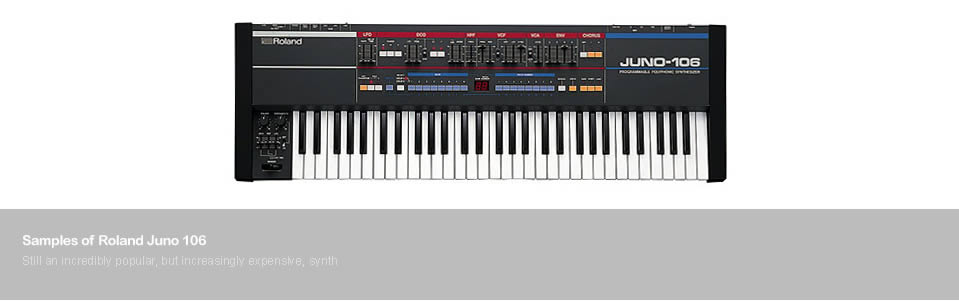 Samples of the Roland Juno 106